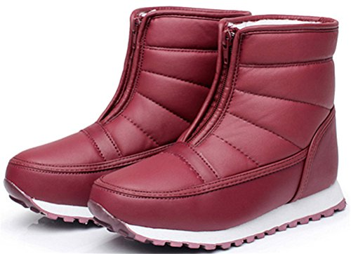 Damessandaal Snowboots, Winter Warm Faux Suede Vacht Casual Mode Laarzen Rood