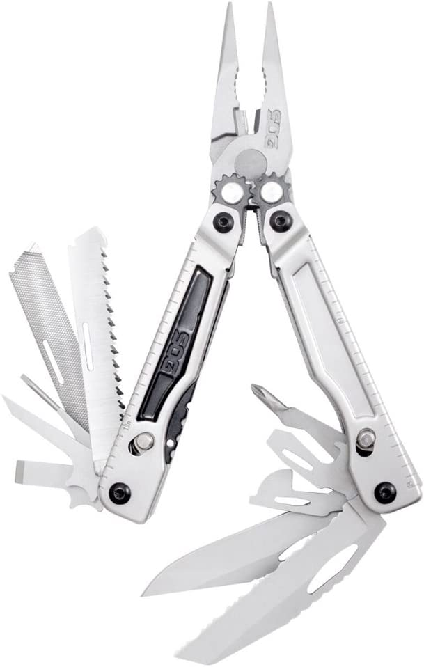 SOG Power Lay PX1001-BX Molded Sheath Multi-Tool, Silver