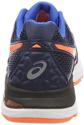 Asics Gel-Pulse 9, Scarpe Running Uomo Blu (Dark Blue/Shocking Orange/Victoria Blue)
