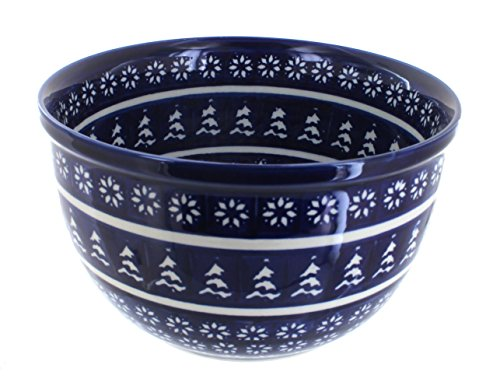 Polish Pottery Winter Nights Medium Mixing Bowl