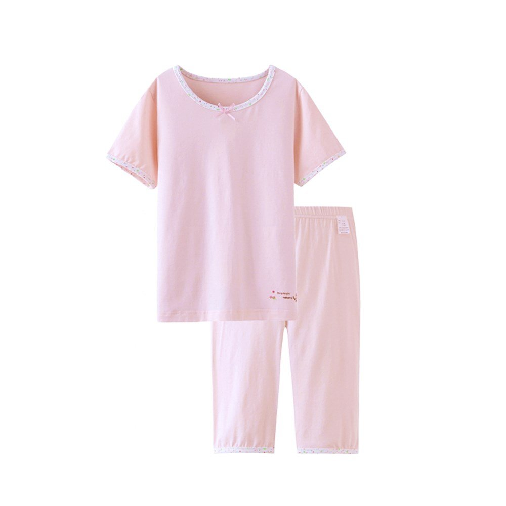 Girls Pyjamas Children Kids Cat Sleepwear Cotton Short Set