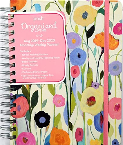 Posh: Organized Living 17-Month 2019-2020 Monthly/Weekly Planner Calendar: Summer's Beauty from Andrews McMeel Publishing