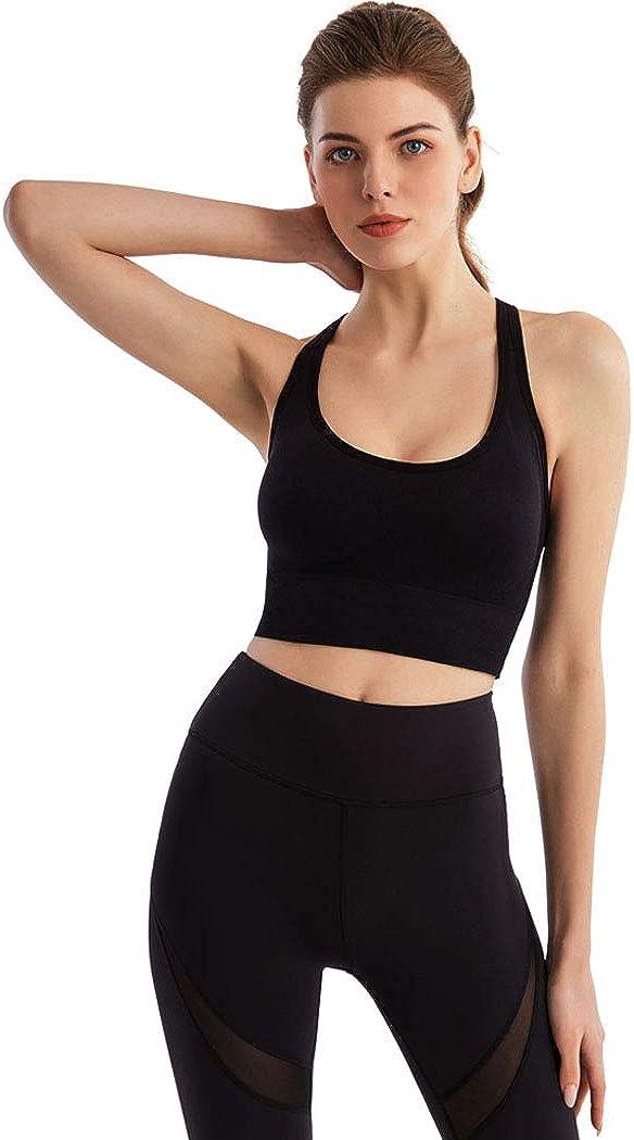 Briskaari Yoga Bra Black Cross Back Running Bras Adjustable Sports Bras for Women and Girls