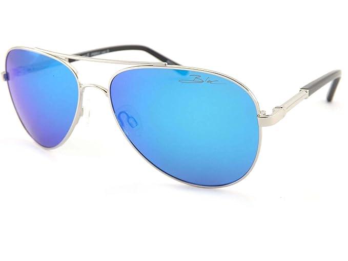"""Bloque polarizadas """"Dune 2 efecto Espejo Aviator Gafas de sol plateado Silver Blue Mirror"""