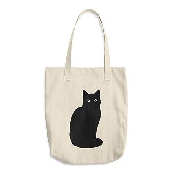 Bolso de lona para gatos, bolsa de lona impresa, bolsa de regalo para mujer: Amazon.es: Hogar