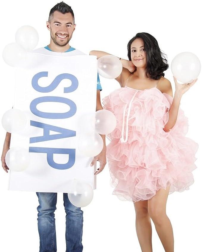 Amazon.com: Soap Loofah Bubbles Adult Costume Set: Clothing