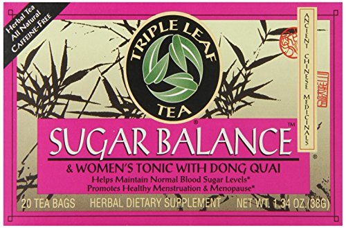 (Triple Leaf Tea, Sugar Balance, 20 Tea Bags (Pack of 6))