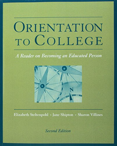 Orientation to College: A Reader (Wadsworth College Success)
