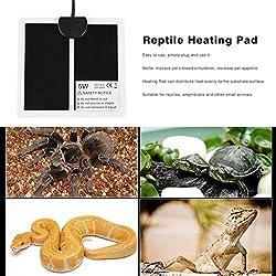 Temperature Control Products - 220-240V Ultra-Thin Reptile Heating Pad 14x15cm Mat EU Plug Temperature Regulating Mats - by Tini - 1 PCs