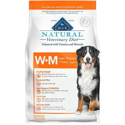 Blue Buffalo Natural Veterinary Diet 801755 Weight Management + Mobility Support for Dog 6lbs