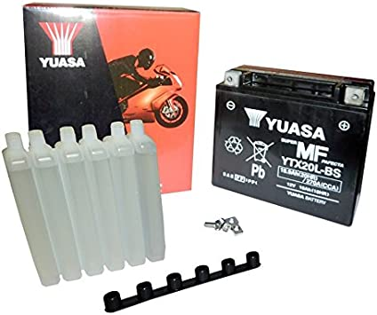 Yuasa Battery Ytx20l Bs Agm Open With Acid Pack Auto