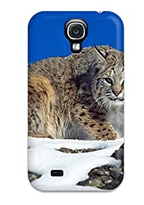 Hot Cold Stare Bobcat First Grade Tpu Phone Case For Galaxy S4 Case Cover