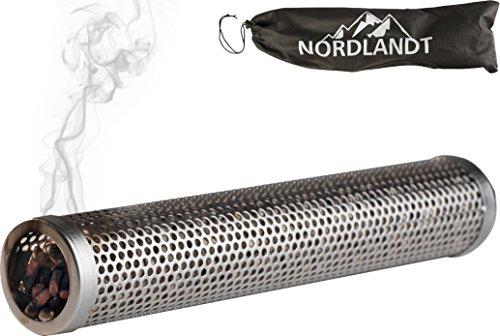 Nordlandt Räucherröhre 30cm - Das Original - Räuchern auf jedem Grill mit Räucherpellets – Intensiv Rauch - Edelstahl Kaltrauch-Erzeuger - Räucherbox - Tube Smoker 12