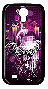 Samsung Galaxy S4 Case, iCustomonline Purple Protective Back Cover Case for Samsung Galaxy S4 I9500 Black