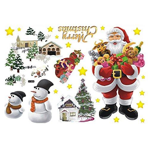Vktech® Removable Merry Christmas Santa Claus Home Decor Ar