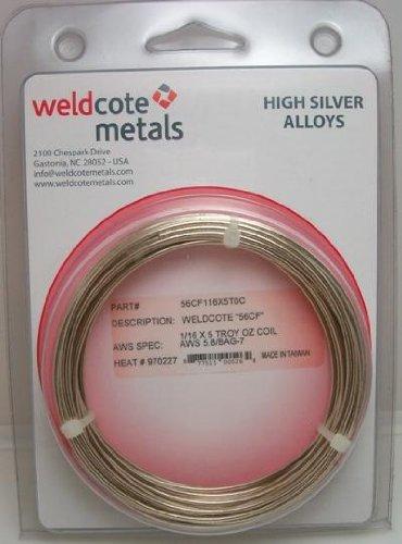 "WELDCOTE METALS 56 Silver Solder 1/16"" 5 Troy Ounce Cadmi..."