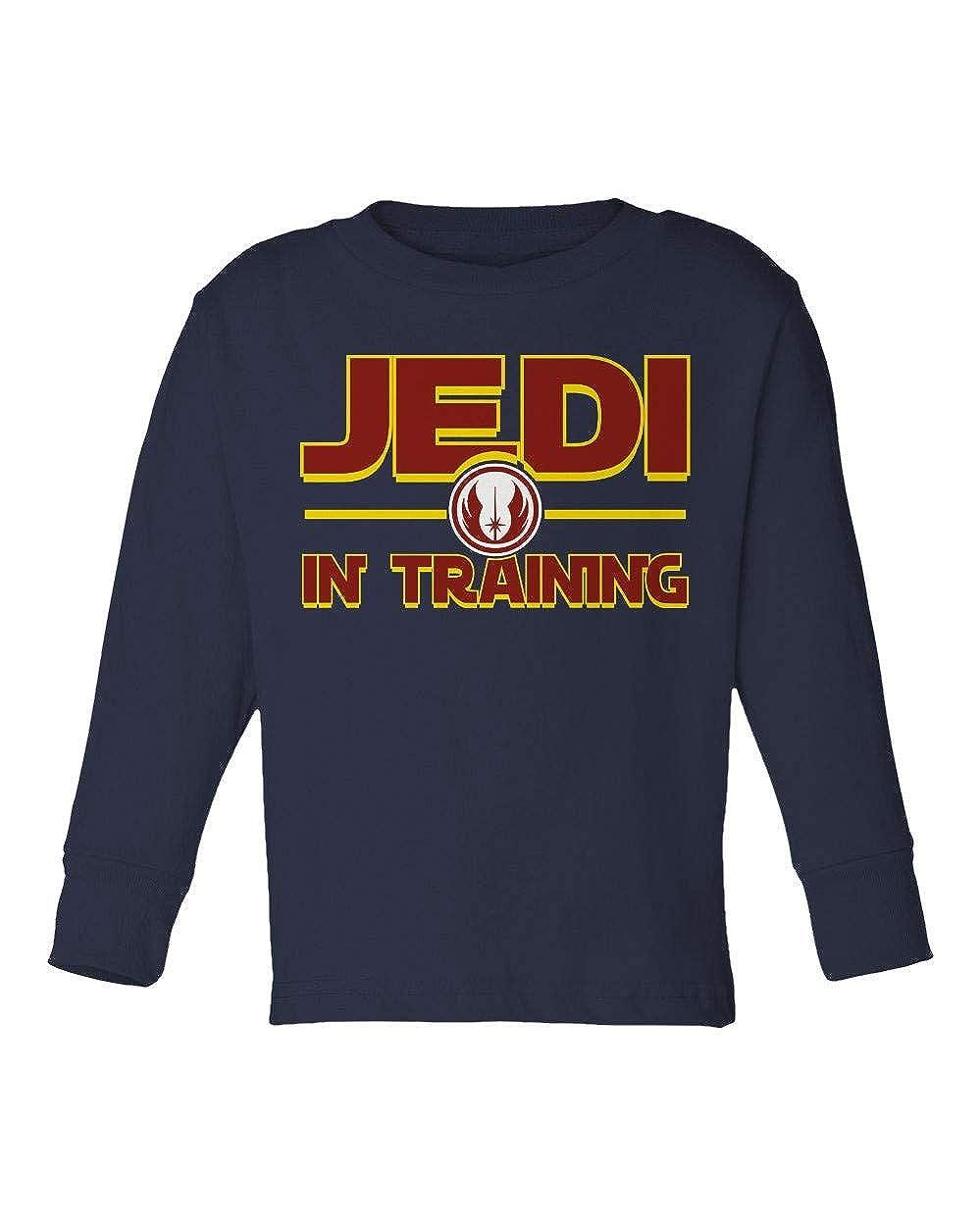 Societee Jedi in Training Star Force Cool Retro Girls Boys Toddler Long Sleeve T-Shirt