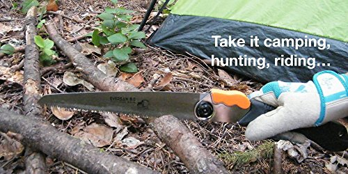 EverSaw FOLDING HAND SAW All-Purpose, Wood, Bone, PVC. Best for Tree Pruning, Camping, Hunting, Toolbox. Rugged 8'' Blade, Solid Grip - Quality Made for Real Work by Home Planet Gear (Image #4)