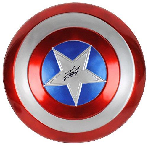 Stan Lee Signed Captain America Full Size Shield W/Stan Lee Hologram & PSA/DNA ()