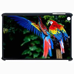 Customized Back Cover Case For iPad Air 5 Hardshell Case, Black Back Cover Design Macaw Personalized Unique Case For iPad Air 5