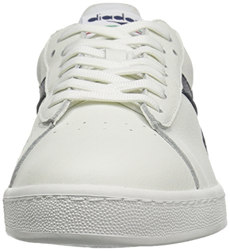 Diadora Men's Game L Low Waxed Court Shoe White/Blue Caspian Sea outlet with paypal fMXyul