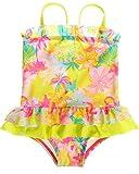 #8: Sociala Baby Girl's Tropic One Piece Swimsuit Swimwear Bathing Suit Rash Guard