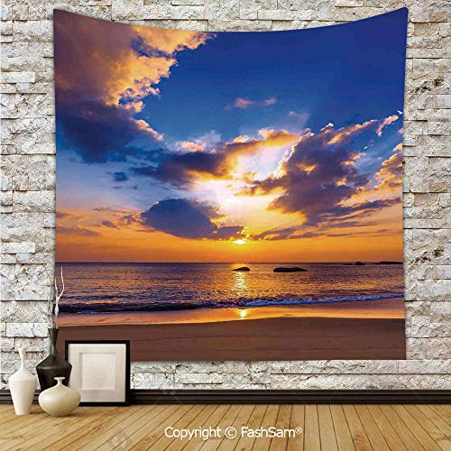 FashSam Tapestry Wall Hanging Colorful Sunset Reflection Over Ocean Evening Horizon Romantic Scenery Picture Decorative Tapestries Dorm Living Room Bedroom(W39xL59)]()