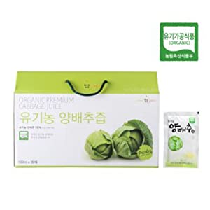 [Organic Maru]30 years Organic cabbage juice 30 pack 1 box / Gift/Health Food/Pack/Bundle/Health Drink/Diet foods/Parents Gift/Vegetable