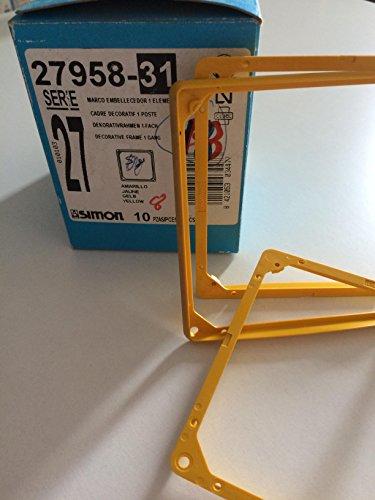 Simon 27956-31 - Marco Embellecedor Para Placas I (Oro): Amazon.es: Bricolaje y herramientas