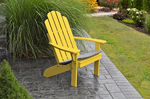 BEST ADIRONDACK CHAIR PORCH FURNITURE & PATIO SEATING, Kennebunkport Design & Stylish Outdoor Living, Perfect Chairs for Front Entry & Back Yard, Fire Pit & Pool Side, Fun Color Choices (Sunshine) (Pit Pottery Fire Barn)
