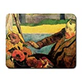 Van Gogh Painting Sunflowers By Paul Gauguin Mouse Pad