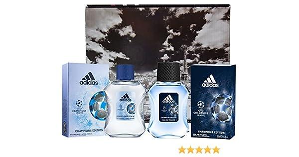 Adidas Champions League - Estuche para hombre que incluye agua de colonia (50 ml) y aftershave (50 ml): Amazon.es: Belleza