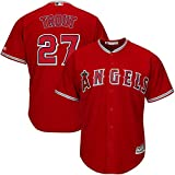 Majestic Mike Trout Los Angeles Angels of Anaheim MLB Kids Red Alternate Cool Base Replica Jersey