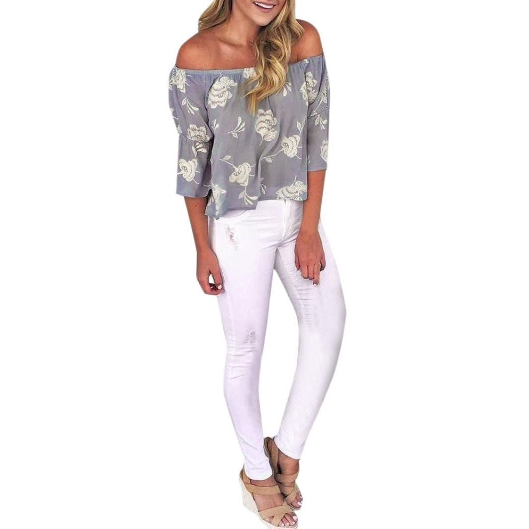 Amazon.com: Teresamoon Floral Printed Blouse, Clearance Deal Woman Flare Sleeve Shirt Blouse Tops: Clothing
