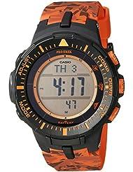 Casio Mens PRG-300CM-4CR Pro Trek Solar-Powered Watch with Orange Band
