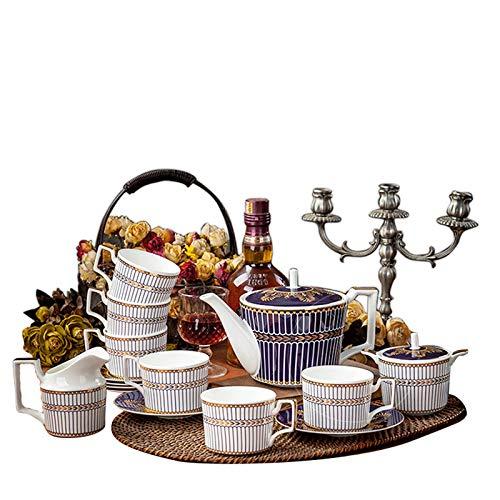 Acquisto ZYCH Set di 15 Set da tè in Porcellana Porcellana Ceramica in Porcellana con 1 caffettiera 6 Tazza 6 piattino 1 vasetto per Il Latte 1 zuccheriera Prezzi offerta