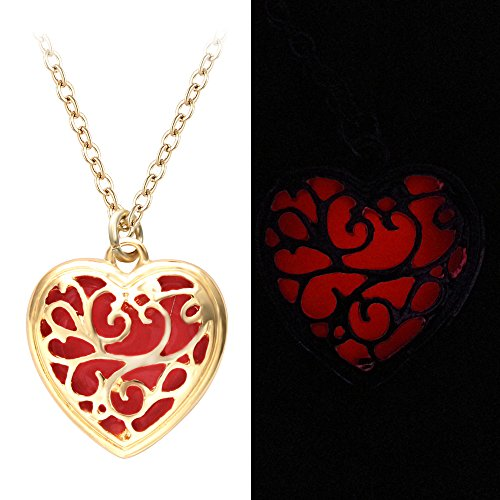 jewelry pendant chain necklace htm swarovski filled red heart ssngf gold crystal p valentine