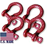 3/4 inch Jeep Crosby-McKissick D-Shackles - North American Made (Set of 4) (4X4 VEHICLE RECOVERY)