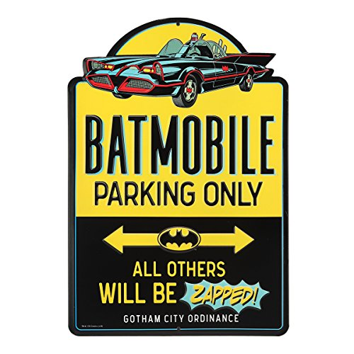 Open Road Brands Batmobile Parking Embossed Metal Sign