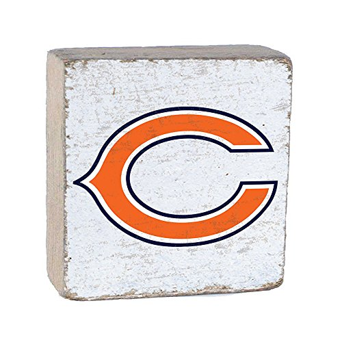 NFL Chicago Bears, White Background Team Logo Block by Rustic Marlin 6