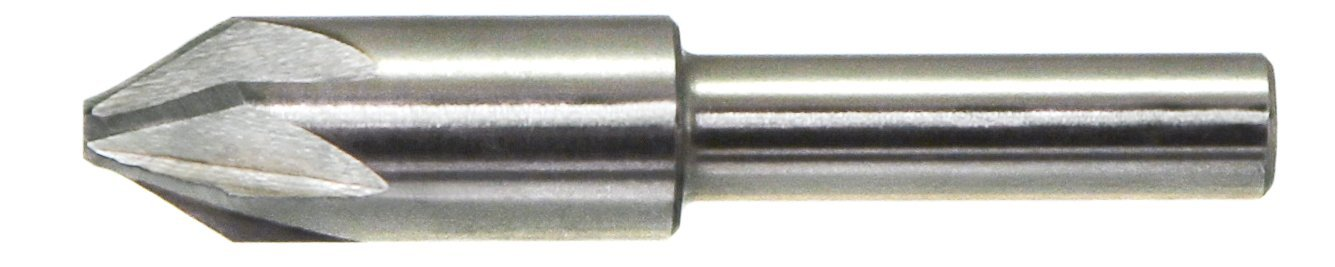 Uncoated 1//4 Size Bright Drillco 3900E Series High-Speed Steel Chatterless Countersink Finish 6 Flute 1//4 Shank Diameter 82 Degrees Point Angle