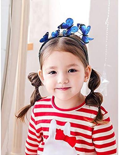 FunPa 2pcs cerceau de cheveux belle cr/éatif papillon d/écor parti bandeau de f/ête chapeaux