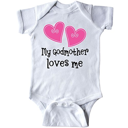 Heart Godmother (inktastic - My Godmother Loves Me Hearts Infant Creeper 6 Months White 23135)