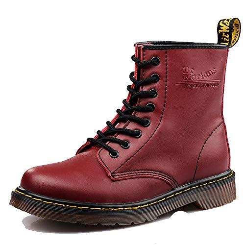 Cuoio in Pelle in Slip Pelle Stivali Scarpe d'Aria ChelseaDealer Sicurezza Foderato Casual Smart Uomini Cuscino Red da di Suole degli Caviglia Lavoro rxOq0IXr