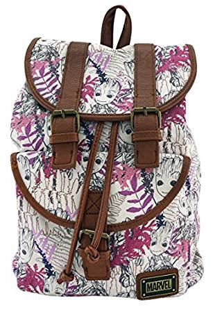 Image Unavailable. Image not available for. Color  Loungefly Marvel  Guardians Of The Galaxy Groot Leaves Canvas Backpack 40f6a2d51f43f