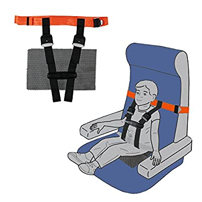 Kids Cares Safety Harness for Airplane- Toddlers Aviation Harness with Non-Slip Drying Mat for Plane, and No Need to Carry Car Seat when Flight with Toddlers by Sunyhere