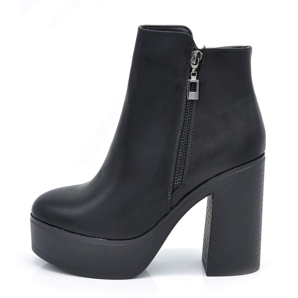 - Senza marca/Generico - If Fashion Scarpe da Donna Tronchetti Stivaletti Zeppa 6155
