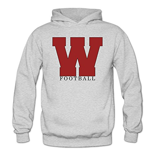 Womens Bowl Athletics Mascot Wisconsin Badgers Hoodies Ash