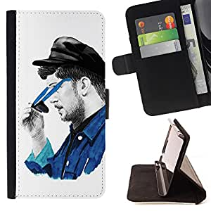 Devil Case- Estilo PU billetera de cuero del soporte del tir¨®n [solapa de cierre] Cubierta FOR Samsung Galaxy S5 Mini SG870a, SM-G800- Art Colourful draw
