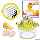 Citrus Juicer with Pulp Filter, Fruit/Vegetable/Chocolate Grater, Measuring Bowl, Egg Yolk Separator